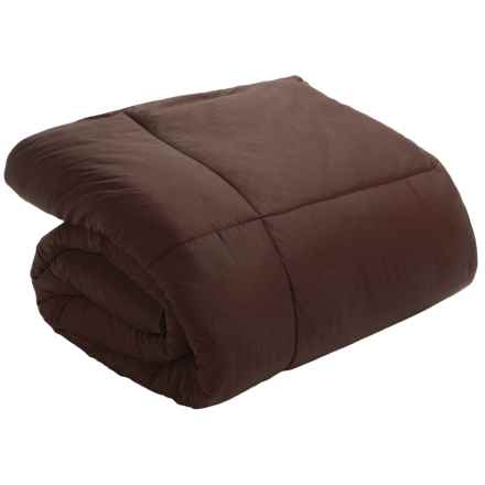 Blue Ridge Home Fashions Down Blend Comforter - 233 TC Cotton, Full-Queen in Chocolate - Closeouts