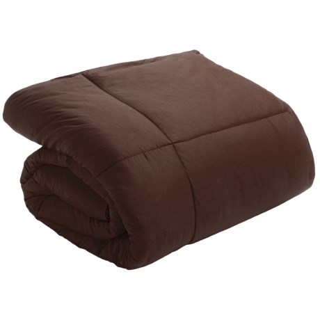 Blue Ridge Home Fashions Down Blend Comforter - 233 TC Cotton, Full-Queen in Chocolate