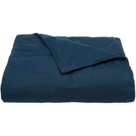 Blue Ridge Home Fashions Down-Blend Comforter - Full-Queen, 233 TC in Navy - Closeouts