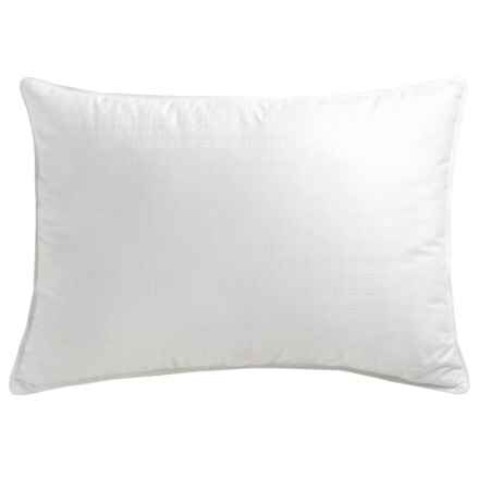 Blue Ridge Home Fashions Down Blend Pillow - Jumbo, Damask Check in White - Overstock