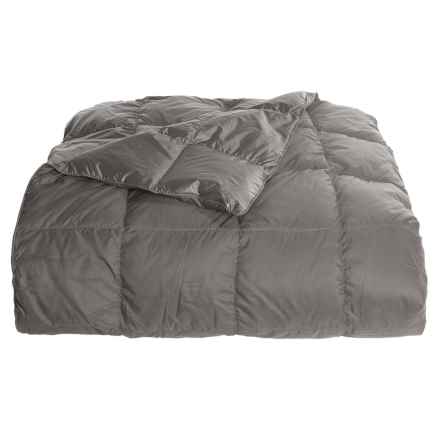 Blue Ridge Home Fashions Down Throw Blanket - 650 Fill Power, Reversible in Castlerock - Overstock