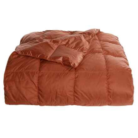 Blue Ridge Home Fashions Down Throw Blanket - 650 Fill Power, Reversible in Cinnamon Stick - Overstock