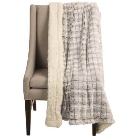 "Blue Ridge Home Fashions Elle Home Sherpa Throw Blanket - 50x60"" in Brown - Closeouts"