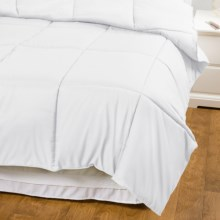 Blue Ridge Home Fashions Hypoallergenic Down Alternative Comforter - Full-Queen, Microfiber in White - Overstock