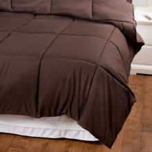Blue Ridge Home Fashions Hypoallergenic Down Alternative Comforter - Microfiber, Full-Queen in Chocolate - Overstock