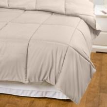 Blue Ridge Home Fashions Hypoallergenic Down Alternative Comforter - Twin, Microfiber in Khaki - Overstock