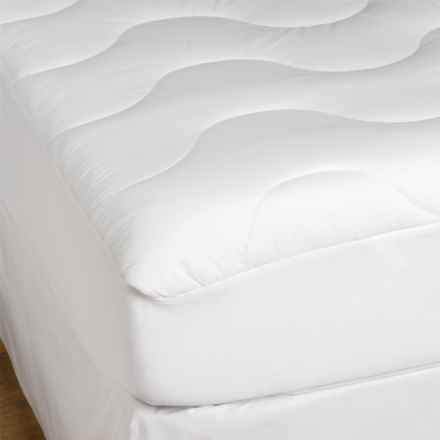 Blue Ridge Home Fashions Mattress Pad - Full, 200 TC Cotton in White - Closeouts
