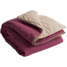 Blue Ridge Home Fashions Microfiber Down Alternative Throw Blanket - Reversible in Brick/Khaki - Closeouts