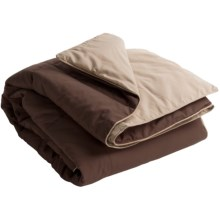 Blue Ridge Home Fashions Microfiber Down Alternative Throw Blanket - Reversible in Chocolate/Khaki - Closeouts