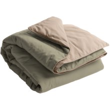 Blue Ridge Home Fashions Microfiber Down Alternative Throw Blanket - Reversible in Sage/Khaki - Closeouts