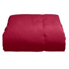 Blue Ridge Home Fashions Microfiber Down Throw Blanket in Brick - Overstock