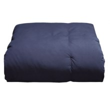 Blue Ridge Home Fashions Microfiber Down Throw Blanket in Navy - Overstock