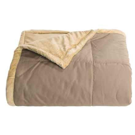 "Blue Ridge Home Fashions Microfiber Plush Throw Blanket - 50x60"" in Kahki - Overstock"