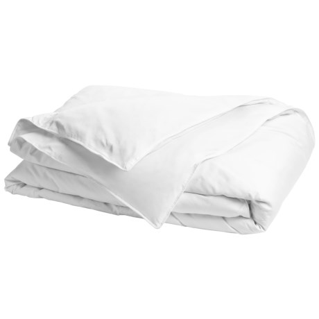 Blue Ridge Home Fashions Olympia Cambric Down Comforter - Twin, 233 TC Cotton in White