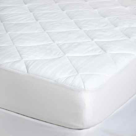Blue Ridge Home Fashions Waterproof Mattress Pad - King, 250 TC Cotton in White - Closeouts