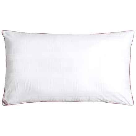 Blue Ridge Home Fashions Windowpane Down Alternative Pillow - King, 500 TC in White - Closeouts