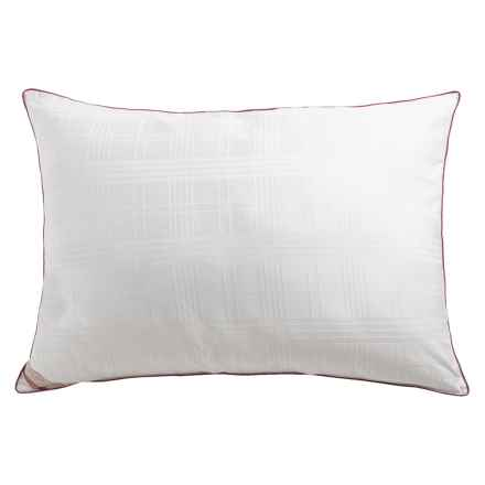 Blue Ridge Home Fashions Windowpane Stripe Down Alternative Pillow - Jumbo in White - Closeouts
