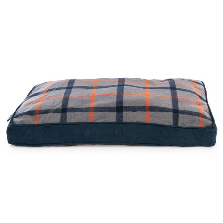 Image of Blue Ridge Plaid Rectangle Dog Bed - 27x36?