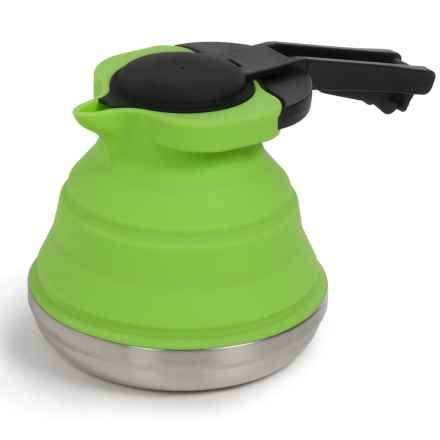 Blue Sky Gear Flexware Camping Kettle - Silicone-Stainless Steel, 40 fl.oz. in Lime - Closeouts