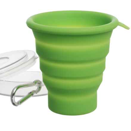 Blue Sky Gear Flexware Cup with Carrying Case - 5.5 fl.oz. in Lime - Closeouts