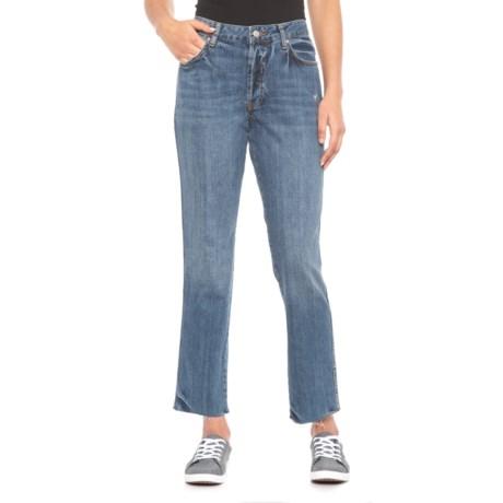 Image of Blue Slim Boyfriend Jeans (For Women)