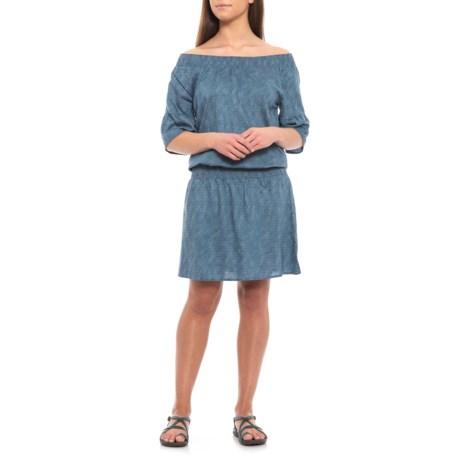 Image of Blue Sprinkle Lenora Dress - Short Sleeve (For Women)