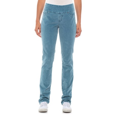 Image of Blue Spruce Peri Pull-On Corduroy Pants - Straight Leg, High Rise (For Women)