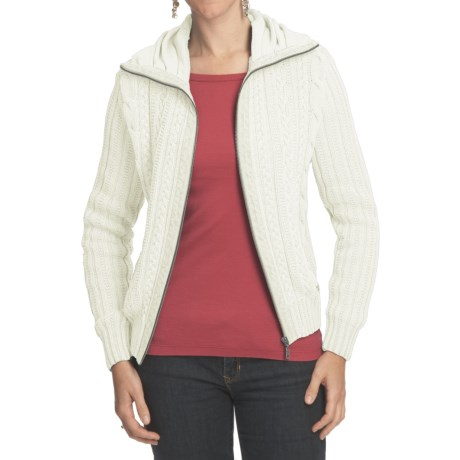 Blue Willi's Cable-Knit Cardigan Sweater - Zip (For Women) in White