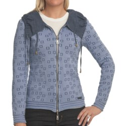 Blue Willi's Cinch Collar Cardigan Sweater (For Women) in Ice Blue