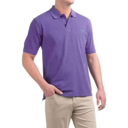 Bluefin Classic Polo Shirt - Short Sleeve (For Men) in Lilac - Closeouts