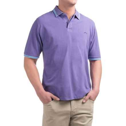 Bluefin Rhode Island Polo Shirt - Short Sleeve (For Men) in Lilac - Closeouts