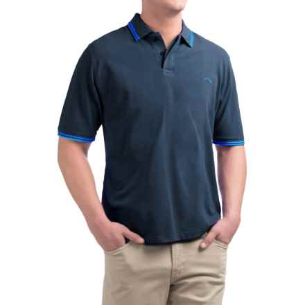 Bluefin Rhode Island Polo Shirt - Short Sleeve (For Men) in Navy - Closeouts
