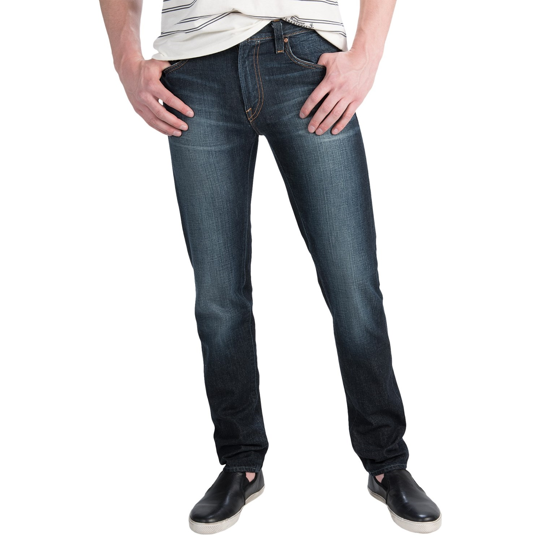 bluer denim m1 slim taper jeans for men save 72. Black Bedroom Furniture Sets. Home Design Ideas