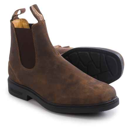 Blundstone 1306 Pull-On Boots - Leather, Factory 2nds (For Men and Women) in Rustic Brown - 2nds