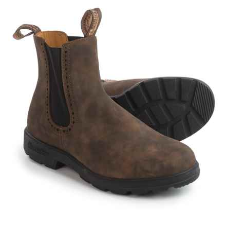 Blundstone 1351 Pull-On Boots - Leather, Factory 2nds (For Men and Women) in Rustic Brown - 2nds
