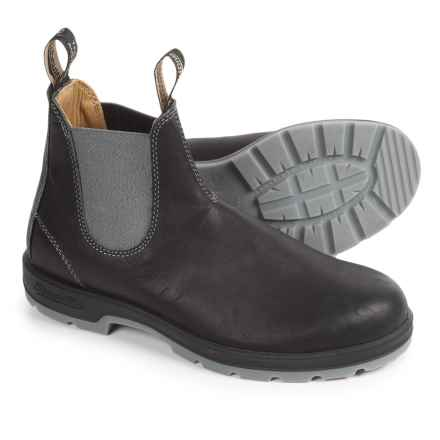 Blundstone 1400 Pull-On Boots - Factory 2nds, Leather (For Men and Women) in Heritage Black/Grey - 2nds
