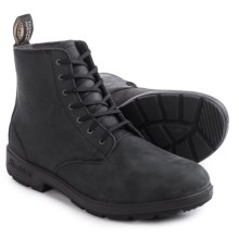 Blundstone 1451 Leather Lace-Up Boots - Leather, Factory 2nds (For Men and Women) in Rustic Black - 2nds