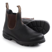 Blundstone 500 Pull-On Boots - Factory 2nds, Leather (For Men and Women) in Stout Brown - 2nds