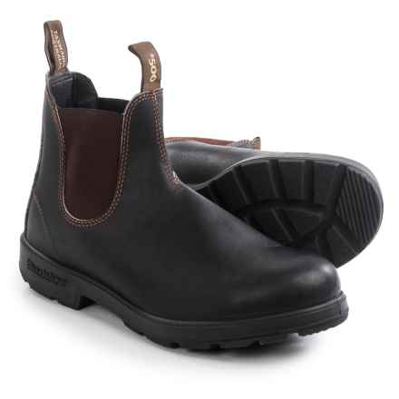 Blundstone 500 Pull-On Boots - Leather, Factory 2nds (For Men and Women) in Stout Brown - 2nds