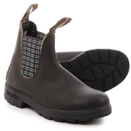 Blundstone 500 Series Chelsea Boots - Factory 2nds, Leather (For Men and in Stout Brown/Navy - Closeouts
