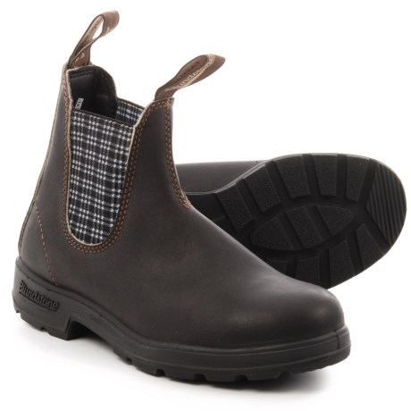 Blundstone 500 Series Chelsea Boots - Factory 2nds, Leather (For Men and in Stout Brown/Navy