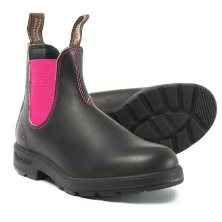 Blundstone 500 Series Chelsea Boots - Leather, Factory 2nds (For Women) in Stout Brown/Pink - Closeouts