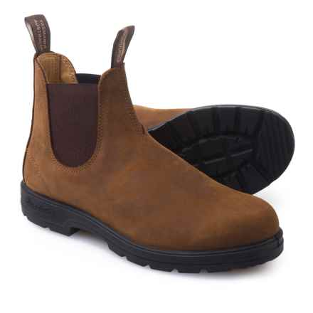 Blundstone 561  Pull-On Boots - Leather, Factory 2nds (For Men and Women) in Brown - 2nds