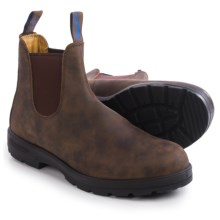 Blundstone 584 Pull-On Boots- Waterproof, Leather, Factory 2nds (For Men and Women) in Rustic Brown - 2nds