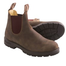 Blundstone 585 Pull-On Boots - Factory 2nds (For Men and Women) in Rustic Brown - 2nds