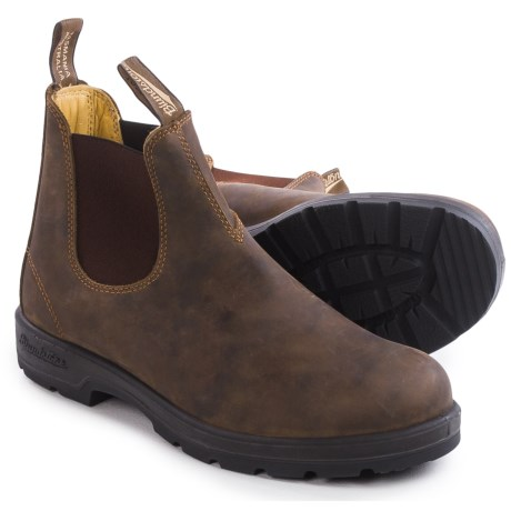 Blundstone 585 Pull-On Boots - Leather, Factory 2nds (For Men and Women) in Rustic Brown