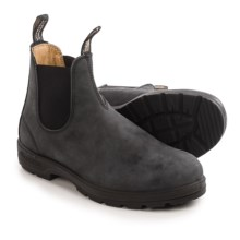 Blundstone 587 Pull-On Boots - Leather, Factory 2nds (For Men and Women) in Rustic Black - 2nds