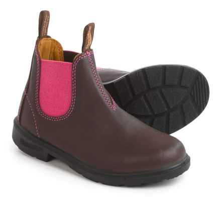 Blundstone Blunnies 1410 Pull-On Boots - Leather, Factory 2nds (For Toddlers) in Brown/Pink - 2nds
