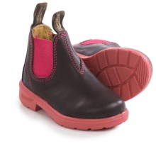 Blundstone Blunnies Chelsea Boots - Leather, Factory 2nds (For Toddlers) in Brown/Pink - 2nds