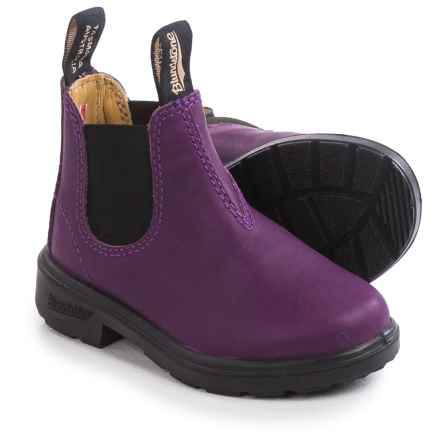 Blundstone Blunnies Chelsea Boots - Leather, Factory 2nds (For Toddlers) in Purple/Black - 2nds